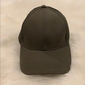 Olive green baseball fitted hat